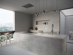 Cosentino Dekton in & # Soke & # - Evan - Innenarchitektur badezimmer Bedroom Furniture Redo, Kitchen Furniture, Kitchen Interior, Industrial Furniture, Industrial Style Kitchen, Modern Kitchen Design, Urban Industrial, Concrete Kitchen, Cuisines Design