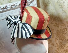 Striped Top Hat / Circus Ringmaster by delightworthyn on Etsy, $58.00