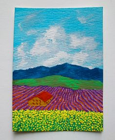 Lavender Farm In Provence France 66 ARTIST TRADING by MikeKrausArt