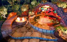 McErlean Rainbow Spa. Very cool! I had never before heard of a rainbow spa. I would love this in my backyard