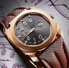 A new watch release! Check out the Bulgari Octo Maserati Mono-Retro GranSport & GranLusso Watches. Pictured here is the GranLusso.
