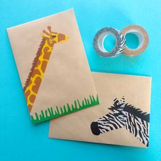 Dollar Store Crafter: Turn Washi Tape Into Safari Stationary Washi Tape Uses, Washi Tape Crafts, Paper Crafts, Origami, Tapas, Gift Wrapping Bows, Fun Mail, Tape Art, Crafts With Pictures