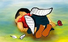 Infelizmente guerra e fome são palavras presentes no cotidiano de muitos meninos, essa é a realidade de milhões de crianças no mundo inteiro. E uma dessas era Aylan Kurdi, um garotinho sírio de apenas 3 anos  http://lounge.obviousmag.org/oficina_da_imaginacao/2015/09/seu-nome-era-aylan.html