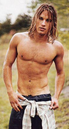 young Travis Fimmel as model, c. 2002, Calvin Klein era