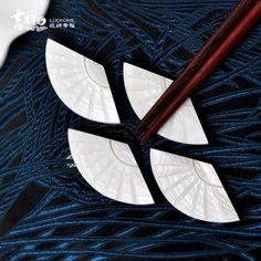 吉祥家 新中式扇形筷架<知味>天然貝殼筷托 筷枕餐具架創意工藝品: