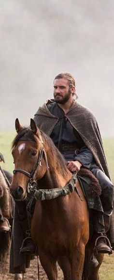 "Clive Standen as Rollo in 'Vikings' - who in actual history was nicknamed ""Rolf the Walker"" because he was such a huge man that there was no horse that could carry him.... so he had to walk everywhere... Imagine a man that big!"