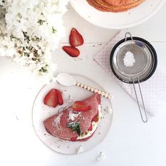 What weekends were made for - strawberry pancakes. #SweetTooth