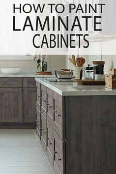 How to Paint Laminate Cabinets - Painted Furniture Ideas - UPGRADE your kitchen cabinets! Learn how to paint over laminate so it lasts! Paint Kitchen Cabinets Like A Pro, Painting Laminate Kitchen Cabinets, Painting Laminate Furniture, Diy Cabinets, Kitchen Paint, Painting Cabinets, Laminate Cabinet Makeover, Paint Bathroom, Kitchen Furniture