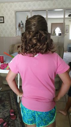 Little girls hair for natural pageant
