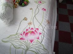 Vietnam hand Embroidery Bedding QBS 029 http://vinaem.vn/