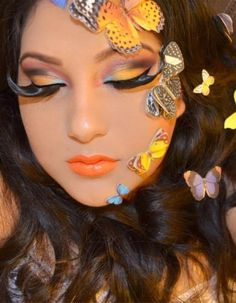 The Butterfly Effect Butterfly Makeup, Butterfly Effect, Butterfly Kisses, Butterflies, Makeup Tips, Hair Makeup, Stunning Eyes, Amazing Eyes, Make Me Up
