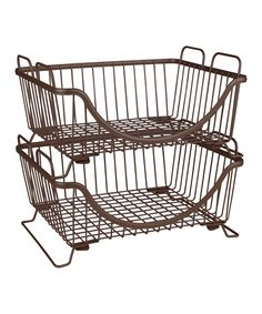 This Bronze Ashley Stackable Basket Tray by Spectrum Diversified Designs, Inc. is perfect! #zulilyfinds