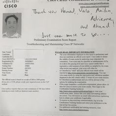 We are proud of our student who has passed Cisco CCNP Troubleshooting  exam .  #ASMChangelives. For more information to get certified for Microsoft, CompTIA A+, Network+, Security+ and Cisco CCNA, CCNP   please visit: http://www.asmed.com/information-technology-it/