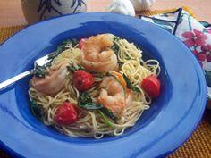 Garlic Shrimp and Spinach   mrfood.com