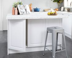 You can never have enough storage, right? If you have the space, and want to include an island bench in your kitchen design, feature base cabinets underneath so you can get the most out of every nook and cranny! Kitchen Hacks, New Kitchen, Kitchen Ideas, Island Bench, Kitchen Gallery, White Doors, Base Cabinets, Building Design, Home Kitchens