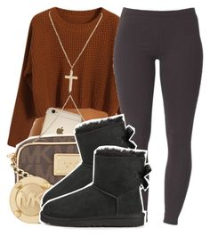 """""""Comment Snapchats"""" by ariangrant ❤ liked on Polyvore featuring moda, Chicnova Fashion, Michael Kors, Joe Browns, River Island, UGG Australia y 441"""