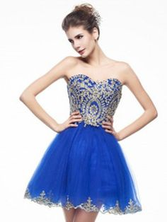 Enchanted 2016 Homecoming Dresses, Prom Dress ,Sweetheart Neckline Embroidery Blue Prom dress,Short/Mini A Line homecoming dress, 2016 homecoming dress. Find This Lovely Dress from GemGrace.com, Enjoy Free Shipping Today.