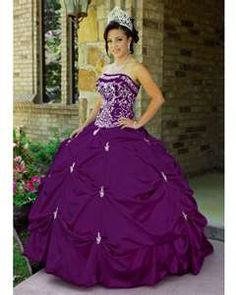 Purple with gold quinceanera dresses symbol of faithful in the