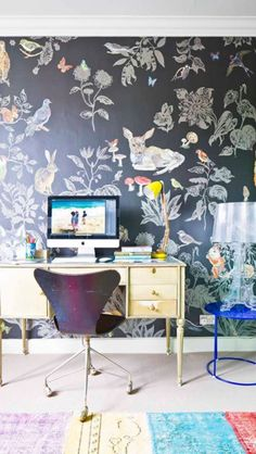 Eclectic Office - via Livingetc - Get the look with our lamp: http://search.mattblatt.com.au/search#w=bourgie=asug