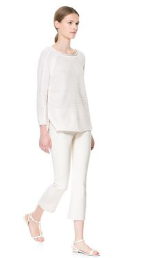 SWEATER WITH SIDE SLITS from Zara