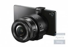 Camera Sony ILCE-QX1 attached to your smartphone and allows you to change lenses