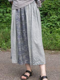 着物リメイク ギャザースカート 絞り                                                                                                                                                                                 もっと見る