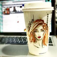 It's a #latte kind of afternoon. #Starbucks #StarbucksPH #FashionSketch #fashionillustration