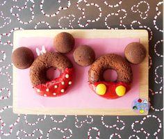 Mickey and Minnie Chocolate Donuts
