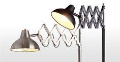 Frosini staande lamp in geborsteld roestvrij staal | made.com