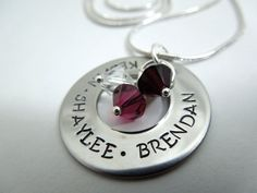 Mother's necklace handstamped stainless steel by ajscustomjewelry, $18.50
