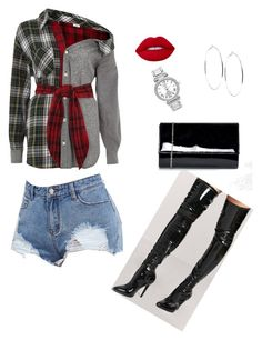 """Untitled #22"" by endilew on Polyvore featuring River Island, Forever 21, Chi Chi, Lime Crime, Avenue and GUESS"