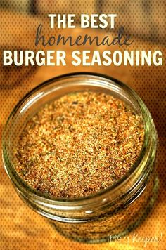 Burger Seasoning BlendYou can find Homemade spices and more on our website. Burger Seasoning, Creole Seasoning, Hamburger Spices, Best Homemade Burgers, Homemade Spices, Herbs, Dishes, Canning, Website