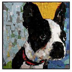 artist samuel price dog collage