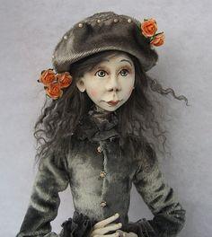 Agnes Art doll OOAK doll Paper clay doll Handmade dollAir by JuraD, $200.00