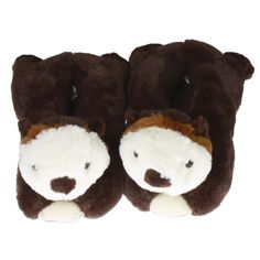 17b466dbe5e4 Wishpets Sea Otter Plush Slippers