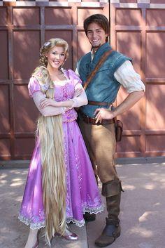 Disney's Tangled: Rapunzel (braided hair) & Flynn Rider #cosplay #couples #disney #tangled