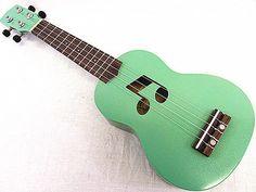 Beautiful 21' Special Green Color Soprano Ukulele Ukulele Bag | eBay