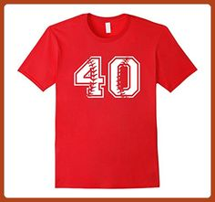 Mens Baseball Dad and Mom Birthday T-Shirt 40th Birthday Party Small Red - Sports shirts (*Partner-Link)