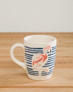 Mug Ceramica Flamingo; Medida: alto 10cm Diam 8 ; composicion 100% ceramica; Industria Argentina