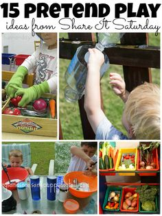 15 Pretend Play Ideas from Share It Saturday at www.fun-a-day.com