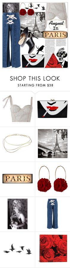 """Août à Paris"" by shintyaguntari ❤ liked on Polyvore featuring Rosie Assoulin, Charlotte Olympia, Elsa Peretti, Vjera Vilicnik, Chanel, Jayson Home and iCanvas"