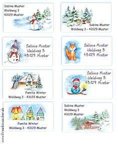 Adventskalender-Zahlen aus Holz zum Aufkleben bunte Scheiben Sticker Advent Zahl