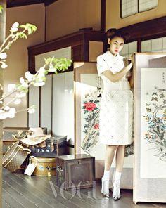 Han Hye Jin by Kim Bo Sung for Vogue Korea April 2012