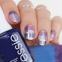 Stylish And Unique Plaid Nail Art ❤️ Nail designs for short nails are a lot more versatile than you could have ever imagined and today we are going to prove it to you. Get ready! Plaid Nail Designs, Plaid Nail Art, Fancy Nails Designs, Nail Tip Designs, Plaid Nails, Ombre Nail Designs, Short Nail Designs, Art Designs, Nail Design Spring