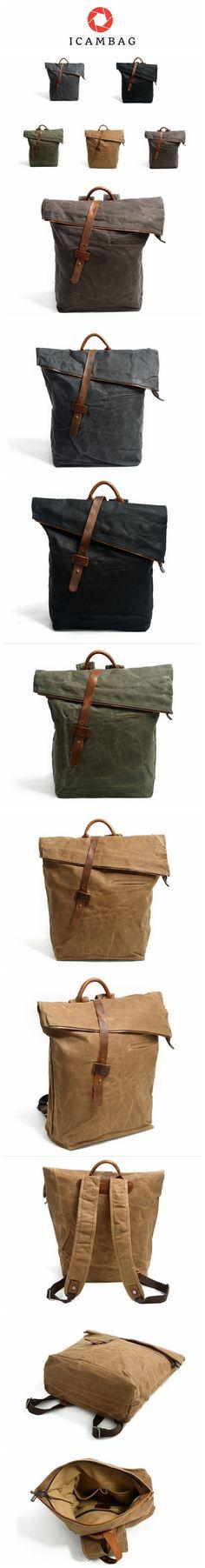 03efc63e872b icambag is a High Quality Design Handmade Leather and Canvas Bag Shop. Canvas  HandbagsCanvas Tote ...