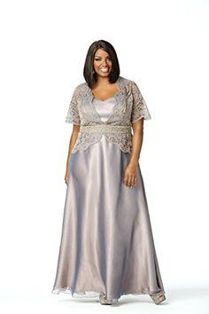 Fashion Bug Women's Plus Size Intoxicating Evening Dress www.fashionbug.us #PlusSize #FashionBug #Wedding