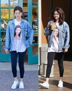 Pinned onto 2018 winter outfits Board in 2018 winter outfits Category Band Tee Outfits, Style Outfits, Punk Outfits, Grunge Outfits, New Outfits, Casual Outfits, Fashion Outfits, Selena Gomez Outfits Casual, Selena Gomez Style