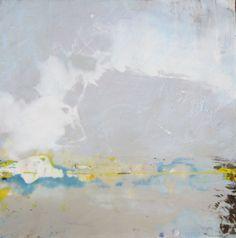 Arctic Landscape encaustic painting by Julia Jensen