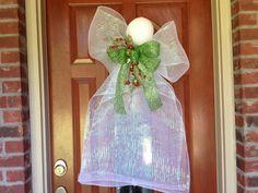 Deco Mesh Angel Wreath