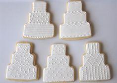 Wedding Cake Cookies 12 by TwoCrazyCookies on Etsy